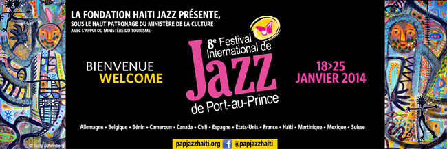 Announcement of the International Jazz Festival held in Haiti last month.