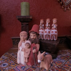 Ceramic folk art nativity from Ayacucho, Peru.  See more like it here: http://www.itscactus.com/catalog/Nativities-29-1.html
