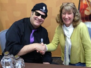 Photo op with Dan Akroyd, selling his Crystal Head vodka at the Philly Flower Show 2015