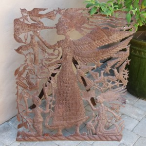 Hatian metal sculpture one-of-a-kind by Michee Remy