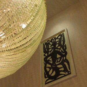 Haitian iron and crystal, together in the Best Western Premier Hotel