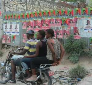 Haiti's streets covered with presidential ads
