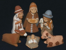 Folk Art Nativity from Peru
