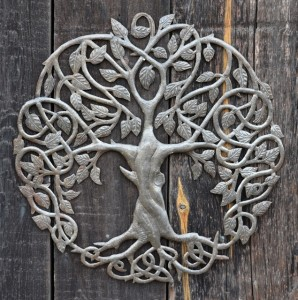Tree of life Haitian metal art