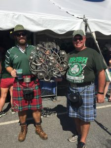 Guys in kilts at the Celtic Festival