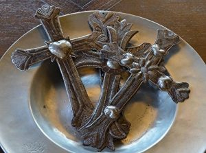 metal crosses hand made in Haiti