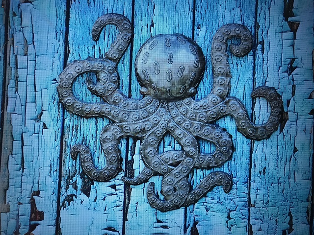 octopus metal sculpture